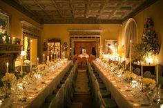 Reception dinner tables.