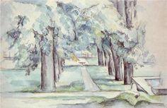 Pool and Lane of Chestnut Trees at Jas de Bouffan - Paul Cezanne