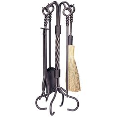 UniFlame bronze fireplace tool set with ring and twist handles fireplace tools. Uniflame hearth accessories are a great way to spruce up your fireplace. The ring and twist handle design and attrac Fireplace Grate, Fireplace Tool Set, Fireplace Ideas, Log Holder, Iron Tools, Outdoor Heaters, Into The Fire, Twist Ring, Fireplace Accessories