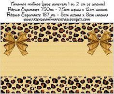 Oncinha - Kit Completo com molduras para convites, rótulos para guloseimas, lembrancinhas e imagens! Oh My Fiesta, Frame Background, Gold Party, Baby Scrapbook, Diy Party, Animal Print Rug, Safari, Printables, Prints