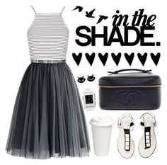 In The Shade by crblackflag on Polyvore featuring polyvore fashion style Topshop Chicwish Chanel Pebble Erstwilder clothing