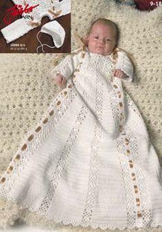 Crochet Dress Girl, Baby Girl Crochet, Crochet Baby Clothes, Love Crochet, Crochet Christening Patterns, Baby Christening Gowns, Blessing Dress, Baby Blessing, Baby Patterns