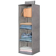 Hanging Closet Organizer,Sweater & sock Organizer with a Hook and Loops,Collapsible Storage Shelves for Clothes, pants and Shoes Shelf) Hanging Closet Shelves, Hanging Clothes Organizer, Hanging Shoe Storage, Clothes Shelves, Cubby Storage, Clothes Storage, Sock Organization, Handbag Organization, Pink
