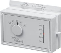 White-Rodgers 01F56N-444 Mechanical Heat/Cool Thermostat by White-Rodgers. $30.22. The White-Rodgers 1F56N-444 thermostat is an easy to operate low-Voltage mechanical thermostat. The 1F56N-444 provides accurate temperature control that is easy to use. The 1F56N-444 is for use on single stage furnaces, air conditioners and heat pumps. For use on 24-Volt and mill volt systems. The 1F56N-444 is a mercury free thermostat. White-Rodgers is a business of Emerson Climate Te...