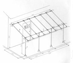 Build a simple awning frame with Kee Klamp Fittings.