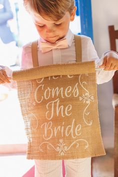 True to the Greek island the wedding colors highlighted white and blue with warm hints of blush and gold. Get ready to get married in Greece! Chalkboard Wedding, Wedding Signage, Got Married, Getting Married, Diy Banner, Santorini Wedding, Rings For Girls, Colored Highlights, Blush And Gold