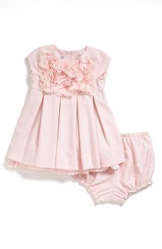 Pippa & Jullie Dress & Bloomers & Nordstrom Ballet Flat (Baby Girls) | Nordstrom