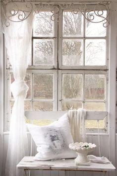 Jeanne d´Arc Fenster Fries Fensterfries vintage shabby chic antique metall weiß in Möbel & Wohnen, Rollos, Gardinen & Vorhänge, Gardinen & Vorhänge   eBay