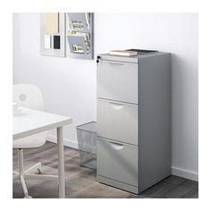 ERIK File cabinet, silver color silver color 16 1/8x41