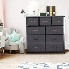 This tall dresser is a great addition to any bedroom, closet, hallway, and more. Easily fits into smaller areas while still providing plenty of storage space. Get instant storage, keeping all of your clothing and accessories organized. It's perfect to be used as a nightstand, storage cabinet, organizer unit, end table or drawer chest. Include 2 size drawers to satisfy your different storage needs.  You can store some clothes, blankets, ling #locamodastyle