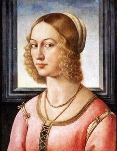domenico ghirlandaio 1449-1494 | ghirlandaio italian artist 1449 1494 portrait of lucrezia tornabuoni ...