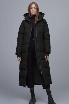 Women's Mystique Parka Black Label | Canada Goose Canada Goose Women, Parka Style, Black Down, Oversized Jacket, Winter Wear, S Models, Fur Jacket, Business Fashion, Mantel