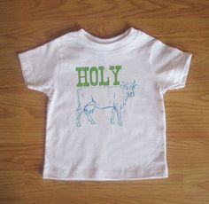 Holy Cow Funny Shirt Tshirt Kids Baby Boy by VicariousClothing, $15.00