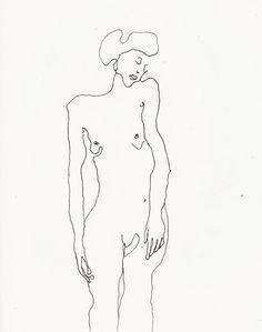 ariste/ farah willem _ (collection art dessin croquis esquisse en lignes, jeune femme nu) drawing lines sketch nude woman
