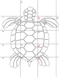 (11) Name: 'Other : Large Sea Turtle template for Applique