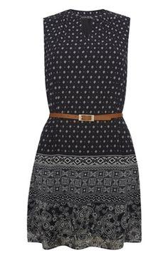 Festival Fashion Essentials: Black Chiffon Belted Tunic.