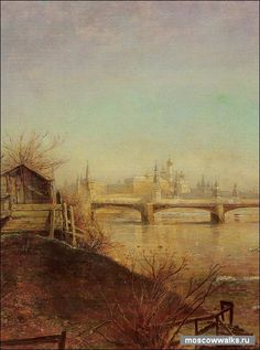 Алексей Саврасов. Вид на Московский Кремль. Весна. 1873 г.