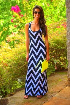 Maximize Me Maxi Dress love this chevron dress