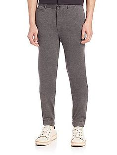 Saks Fifth Avenue Collection Knit Trousers - Grey - Size