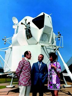 Emilio Pucci at NASA Space Center Houston, 1969 : OldSchoolCool