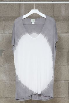 grey and white tie dye. plane jane. i love. Great with a pair of skinny jeans and flats.