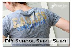 DIY School Spirit Shirt I WANT THIS!!!!!