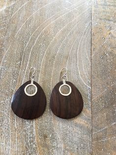 Fabulous Earrings from Silpada in .925 Sterling Silver and Sonokeling Wood…