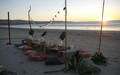 Items to hire via Eve To Dawn. Beach Dinner, Outdoor Furniture, Outdoor Decor, Hammock, Dawn, Eve, Tropical, Boho, Dining