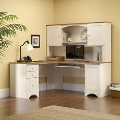 99+ Sauder Harbor View Corner Computer Desk with Hutch - Home Office Furniture Images Check more at http://www.sewcraftyjenn.com/sauder-harbor-view-corner-computer-desk-with-hutch/