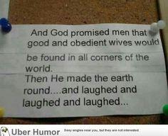God promised…