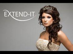 Pretty wedding hair with tiara.