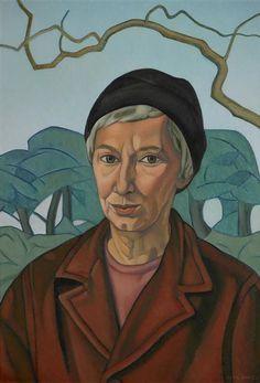 Self-portrait (1967-68) by New Zealand painter Rita Angus (1908-1970). Oil on hardboard, 577 x 405 mm. via Te Papa