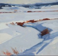 Mark Daniel Nelson Painting Snow, Winter Painting, Winter Art, Artist Painting, Abstract Landscape Painting, Landscape Art, Landscape Paintings, Abstract Paintings, Abstract Art