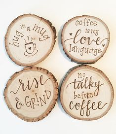 Results for: Coffee Set at Overstock Wood Slice Crafts, Wood Burning Crafts, Wood Burning Patterns, Wood Burning Art, Wood Crafts, Coffee Coasters, Wooden Coasters, Diy Coasters, Leather Coasters