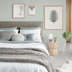 Ahh the serenity! Stunning Scandinavian styled bedroom by Melbourne based interior stylist 👈🏻 for the latest edition of photo by Home Decor Bedroom, Bedroom Inspirations, Home Bedroom, Bedroom Interior, Bedroom Makeover, Bedroom Styles, Master Bedrooms Decor, Bedroom Green, Room Ideas Bedroom