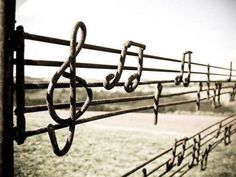Interesting gate/fence ... if I could read music I might know what song this is ...