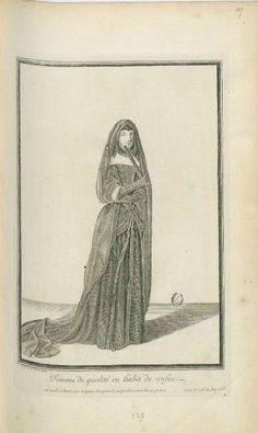 Jean Dieu de Saint-Jean (1654?-1695) - Femme de qualité en habit de veuve, 1678 - Paris, Bibliothèque Nationale de France