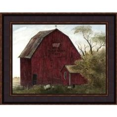 Framed Picture Black Sheep Barn Country Rustic Bonnie Fisher $49.99
