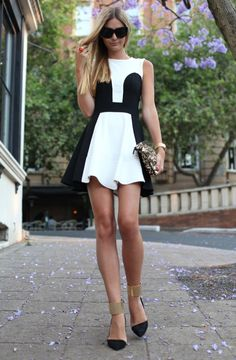 Love - ok this black and white dress is ridic and the shoes are are insane - show.stopper.