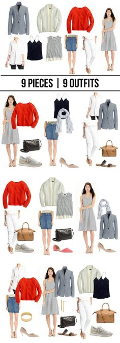 jillgg's good life (for less) | a style blog: 9 pieces | 9 outfits… spring 2015!