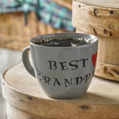 Cheers, Dad: 6 DIY Gift Ideas To Make Him Smile! Best Grandpa stenciled mug