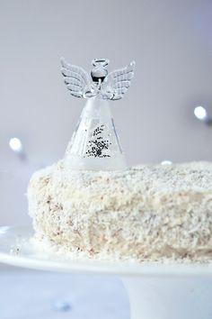 Coconut Snow Angel Cake {Gluten-free, Paleo, Sugar-free} - Wallflower Girl