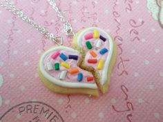 Hey, I found this really awesome Etsy listing at https://www.etsy.com/au/listing/171257242/best-friend-sugar-cookie-necklace-set