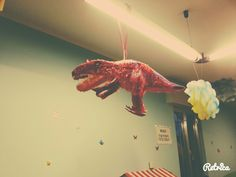 Dino party decorations trex pinata