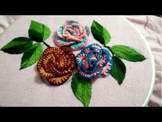Hand embroidery flower with cast on and blanket stitch Brazilian embroidery Brazilian Embroidery Stitches, Hand Embroidery Flowers, Hardanger Embroidery, Types Of Embroidery, Embroidery Supplies, Learn Embroidery, Japanese Embroidery, Hand Embroidery Stitches, Hand Embroidery Designs