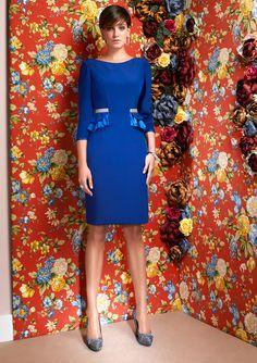 Vestido blau.