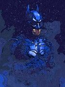 Batman Black Print by Super Hero