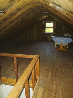 Our attic finishing project, Attic cleared ready to rock....