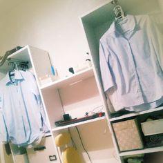 シンプル/DIY/衣類収納/ニトリ/カラーボックス/壁面収納…などのインテリア実例 - 2015-10-13 20:21:30 | RoomClip(ルームクリップ)