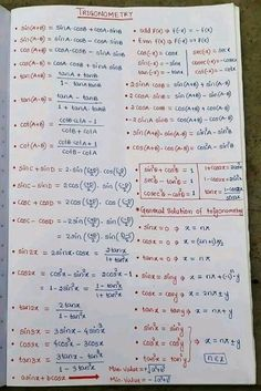 Education Discover Trigonométrie Math Vocabulary Maths Algebra Calculus Maths Formulas List Math Formula Chart Math Tutorials Math Charts Maths Solutions Physics And Mathematics Maths Formulas List, Maths Algebra Formulas, Cool Math Tricks, Maths Tricks, Math Formula Chart, Geometry Formulas, Physics And Mathematics, Learn Physics, Math Tutorials